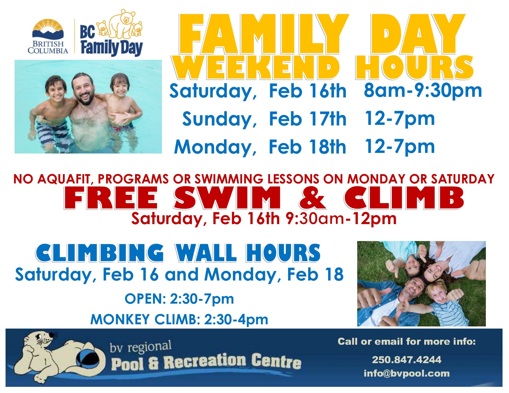 Family day hours 2019