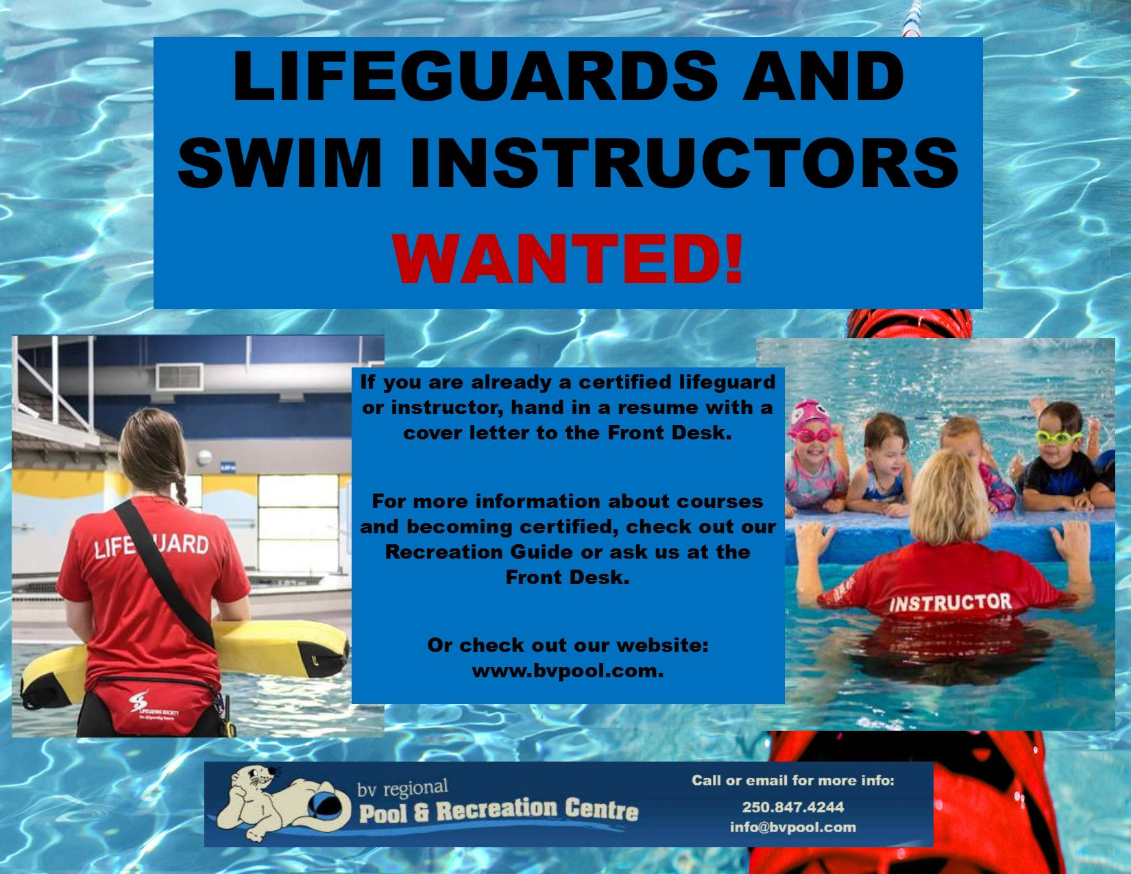 Lifeguardinstructors Wanted