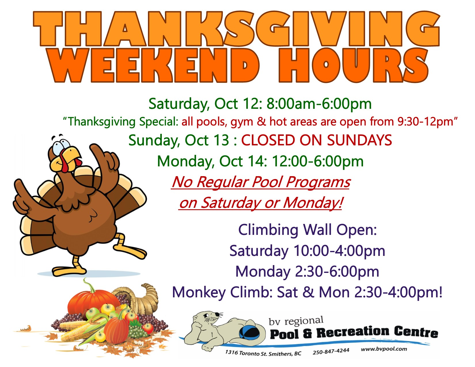 Thanksgiving Hours 2019